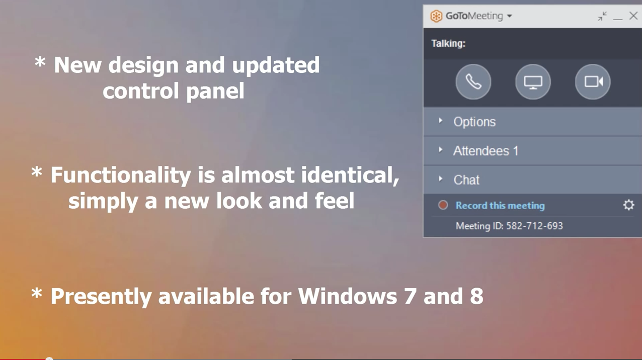 Gotomeeting Has New Look And Feel Windows Only For Now